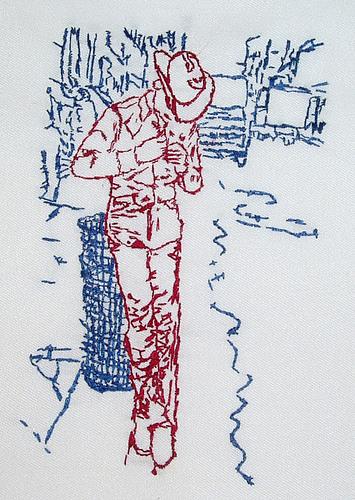 Bascom Hogue - Lawrence Cowboy - Hand Embroidery