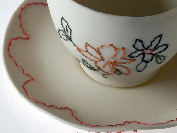 Claire Coles's Embroidered Teacup