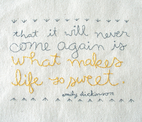 Alli Coate Emily Dickinson Embroidered Words