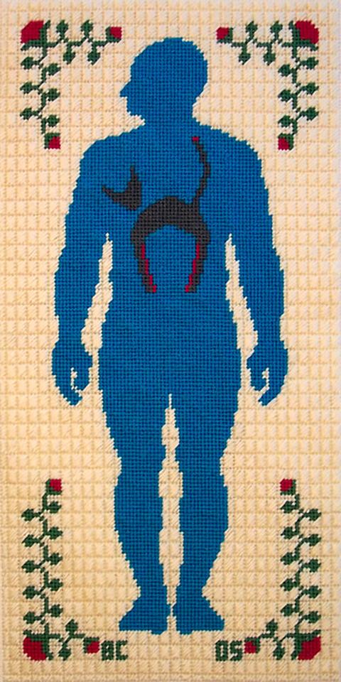Ben Conrad catperson embroidery