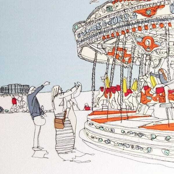 Gillian Bates - Brighton Carousel - Machine Embroidery