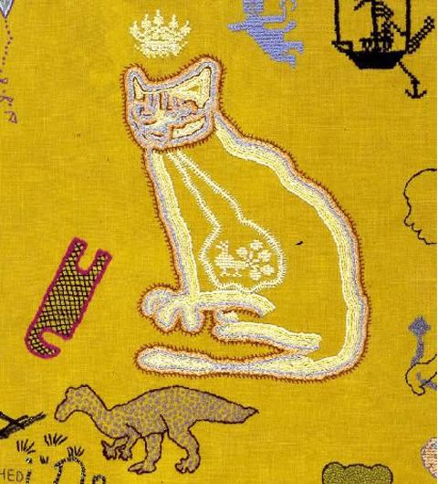 Tilleke Schwarz Into The Woods embroidery