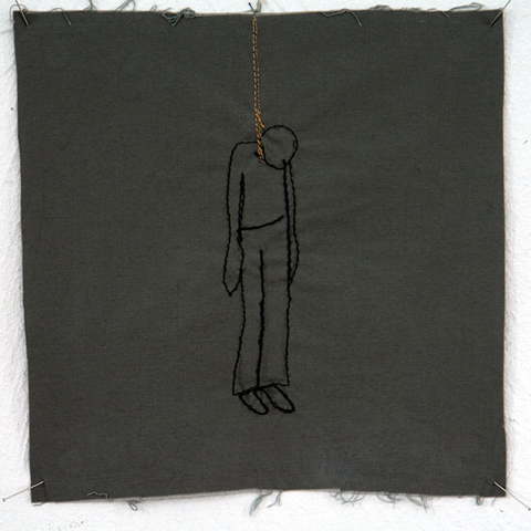Silke Krah Hanging Machine Embroidery