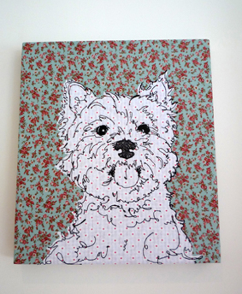 Angharad Jefferson Scottie Dog Embroidery
