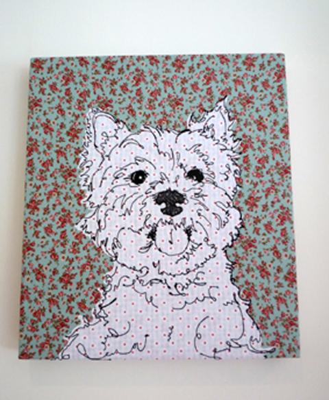 Angharad Jefferson Scottie Dog Embroidery