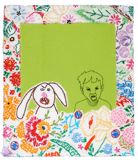 Maggy Rozycki Hiltner - Disagreeable Dog - Mixed Media