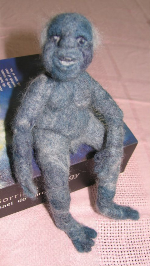 Gramarye - Blue Needlefelt Doll