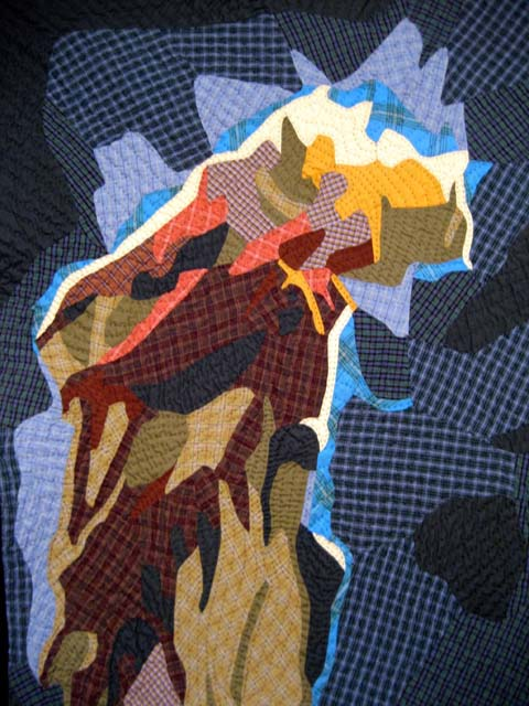 Jimmy McBride - Quilt Pillars of Creation detail