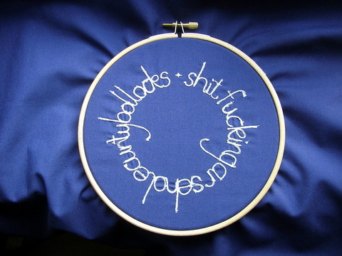 Sweary Glow In The Dark Machine Embroidery by Seamless Gem