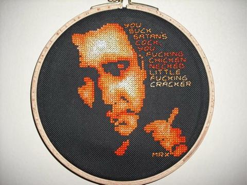 Bill Hicks Cross Stitch by MrXStitch