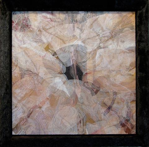 Robert Forman Thread Painting - Pussy (2010)