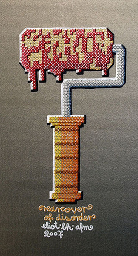 EliotBK - Roller - Cross Stitch On Painted Canvas