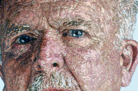 Cayce Zavaglia - Dad (detail) - Hand Embroidery