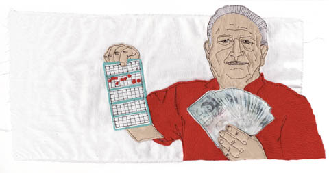 Tugba Kop - Bingoman - Machine Embroidery and Applique