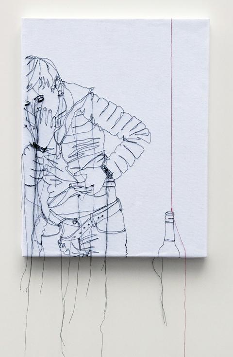 Nike Schroeder embroideries - Self portrait redline I