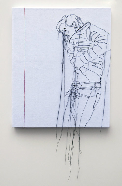 Nike Schroeder embroideries - Self portrait redline II