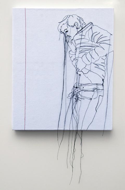 Nike Schroeder embroideries - Self portrait redline II