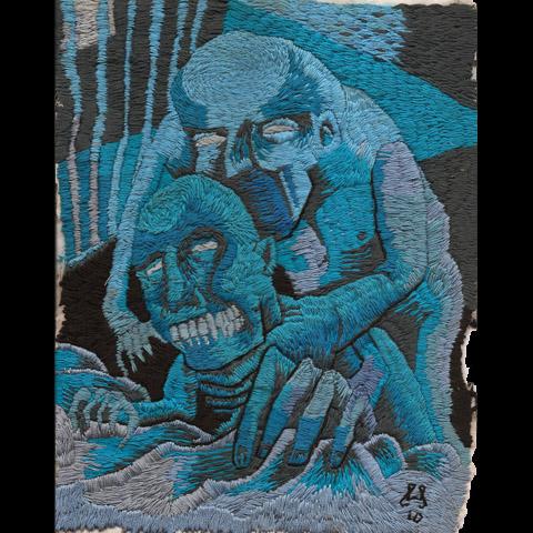 William Schaff - Prison Rape hand embroidery