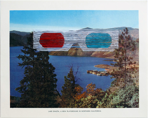 Shaun Kardinal - A New Playground - embroidered postcard
