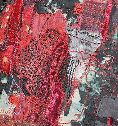 Arlee Barr - Raggedy Black Heart detail