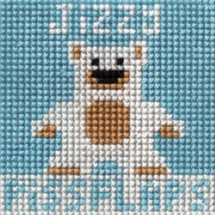 Crapestry - Jizzybear needlepoint