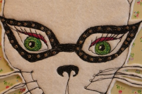 Carly Altree-Williams - Dolores hand embroidery detail