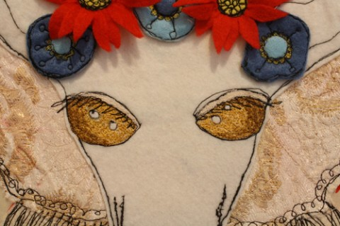 Carly Altree-Williams - Till Death Do Us Part hand embroidery detail