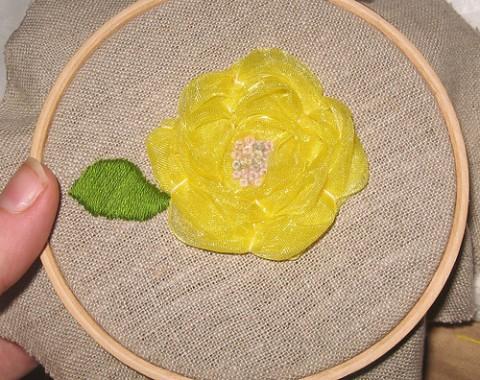 Ribbon Flower Tutorial Part Eight