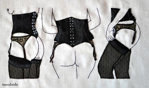TsuruBride - Cheeks as Sweet as Cherries hand embroidery