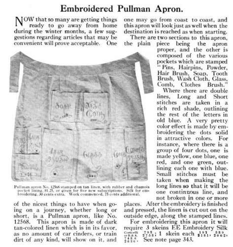 Embroidered Pullman Apron