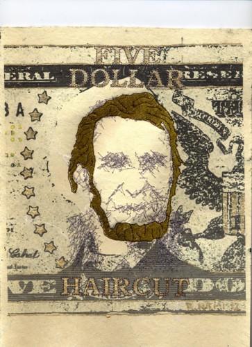 Ries Niemi - Five Dollar Haircut - Machine Embroidery