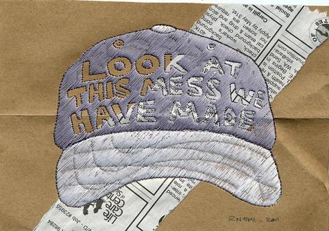 Ries Niemi - Meshback Wisdom 4 - Machine Embroidery
