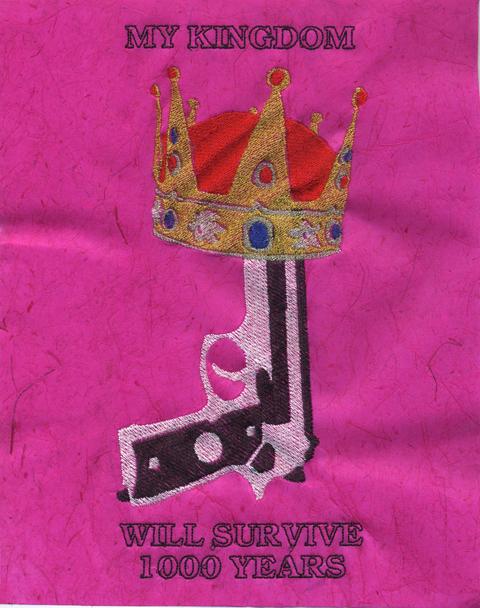 Ries Niemi - My Kingdom Will Survive 1000 Years - Machine Embroidery