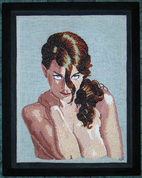 Erika Hagberg - Betcee's Seduction - hand embroidery