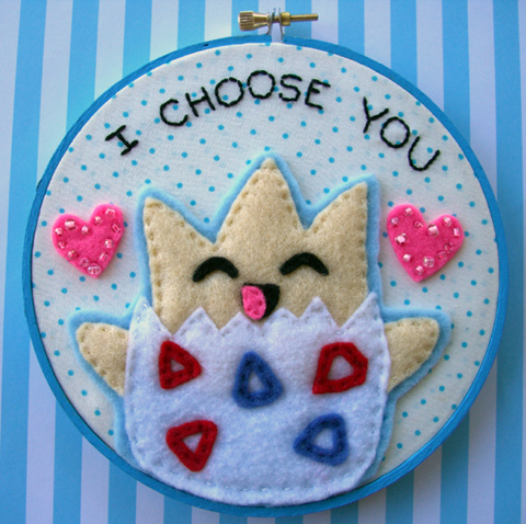 Togepi stitchery by iggystarpup