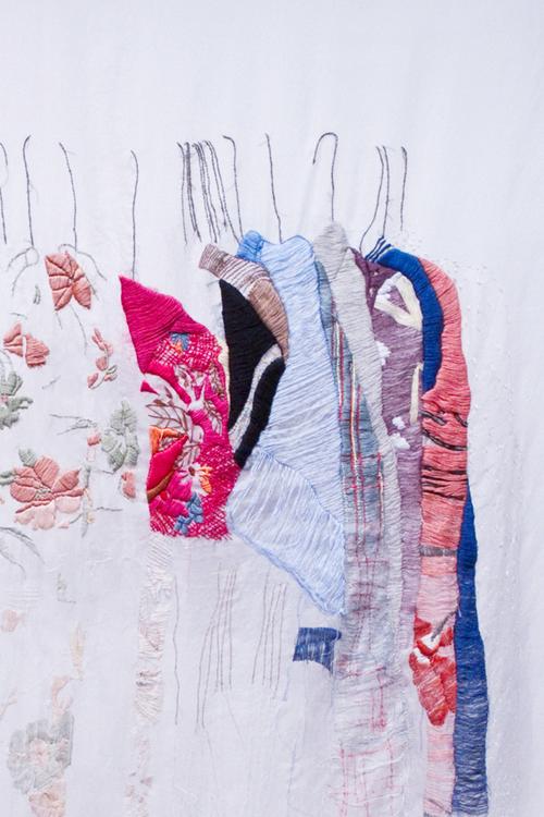 Allison Watkins - My Closet In San Francisco - Hand Embroidery (detail)