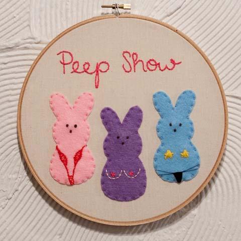 Sugar Darling - Peep Show hand embroidery