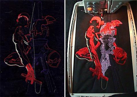 Dare Diva - Machine Embroidery Process