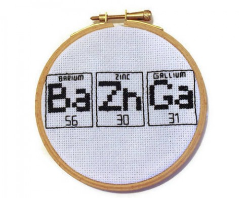 RatherUnseamly's Bazinga Cross Stitch