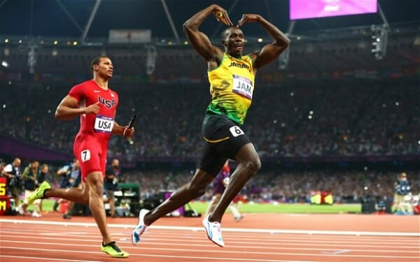 Usain Bolt does the Mobot - new world record article