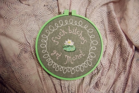 Fuck Bitches hand embroidery by MissJordanBeck