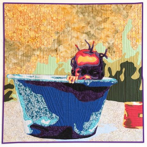 Luke Haynes - The Boss Thanks You - Art Quilt