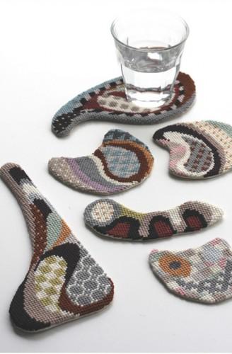 Cresus-Parupi Needlepoint Coasters