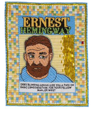 Michael Aaron McAllister - Ernest Hemingway - Hand Embroidery