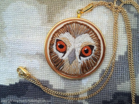 Mother Eagle's Tawny Owl hand embroidery