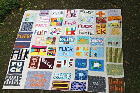 Cauchy's F-Bomb collaborative quilt