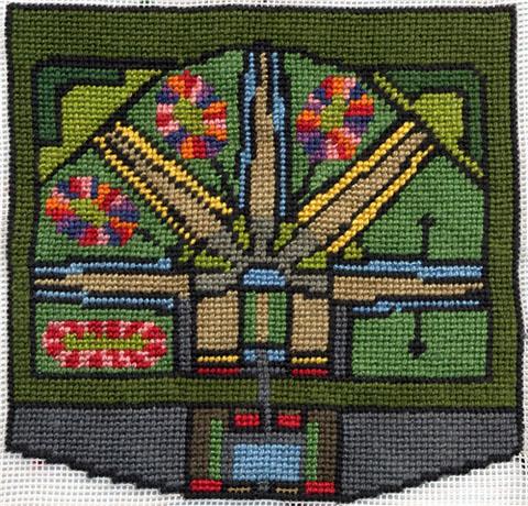 Pandora Vaughan - Modelo Prison needlepoint