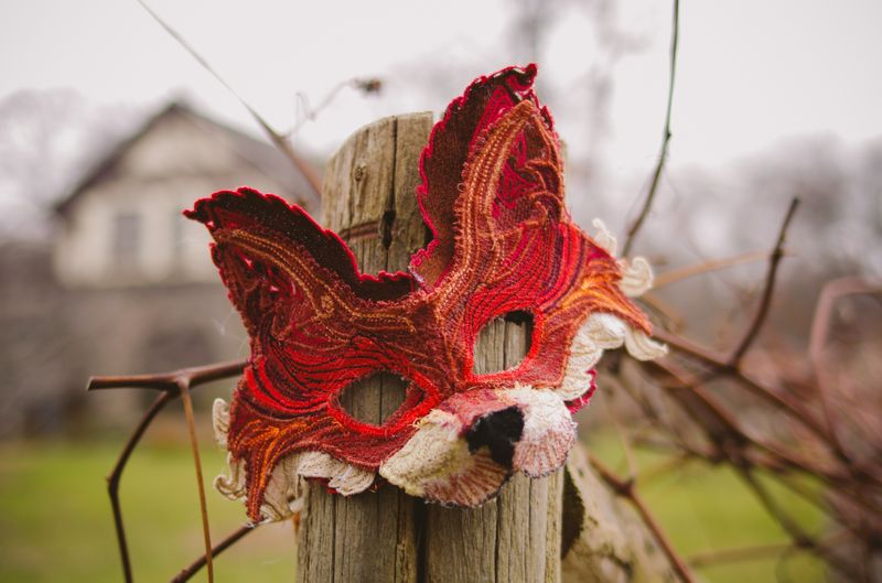 These Woods - Fox Mask - Machine Embroidery