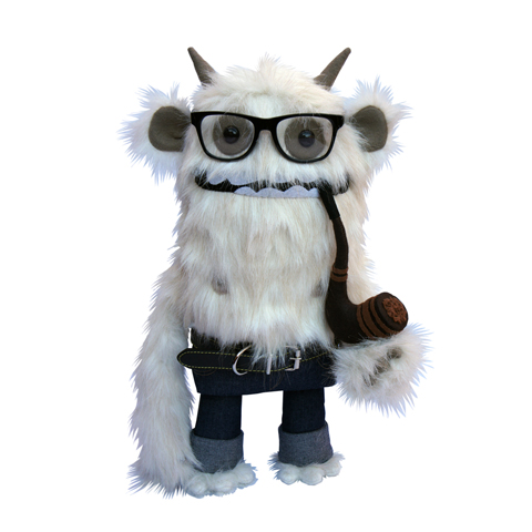 Felt Mistress - Demetri The Yeti plush toy