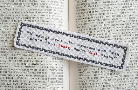 Maru Miller's backstitched bookmark